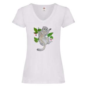Turdus Concept t-shirt damski Kot